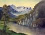 Lago tra montagne